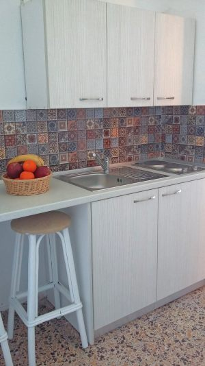Kitchen with fruits