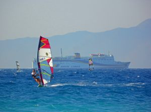 ialisos windsurfing by Karl