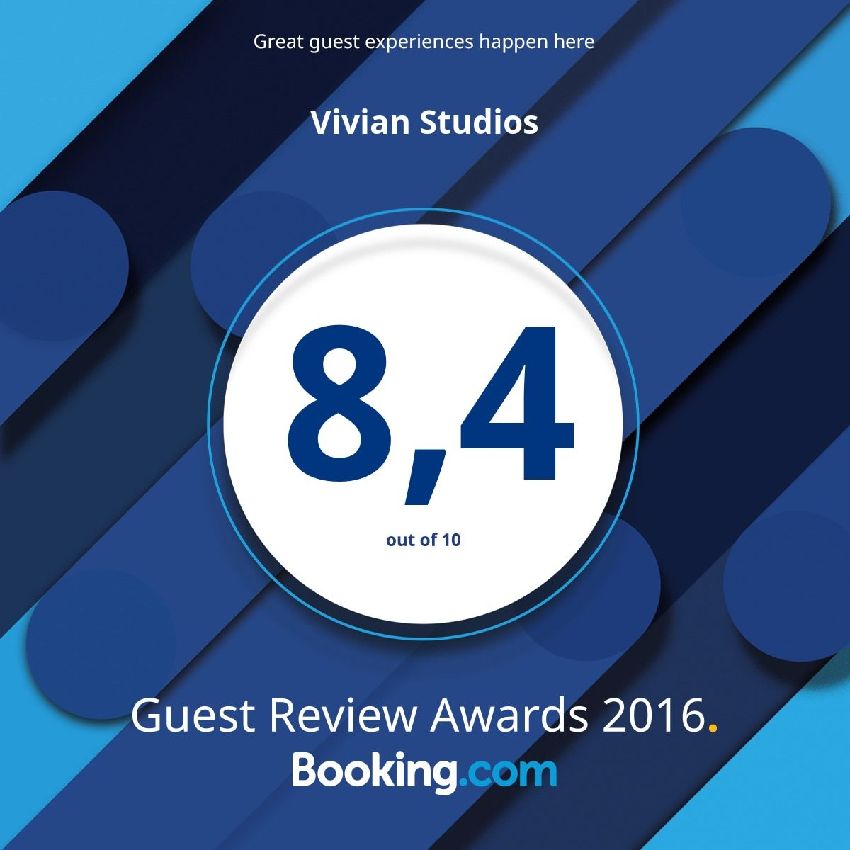 guest review award booking  2016